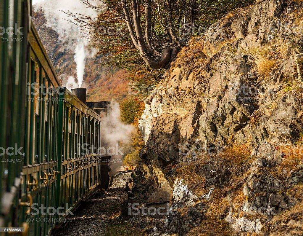 End of World Train, Tierra del Fuego, Patagonia, Argentina stock photo