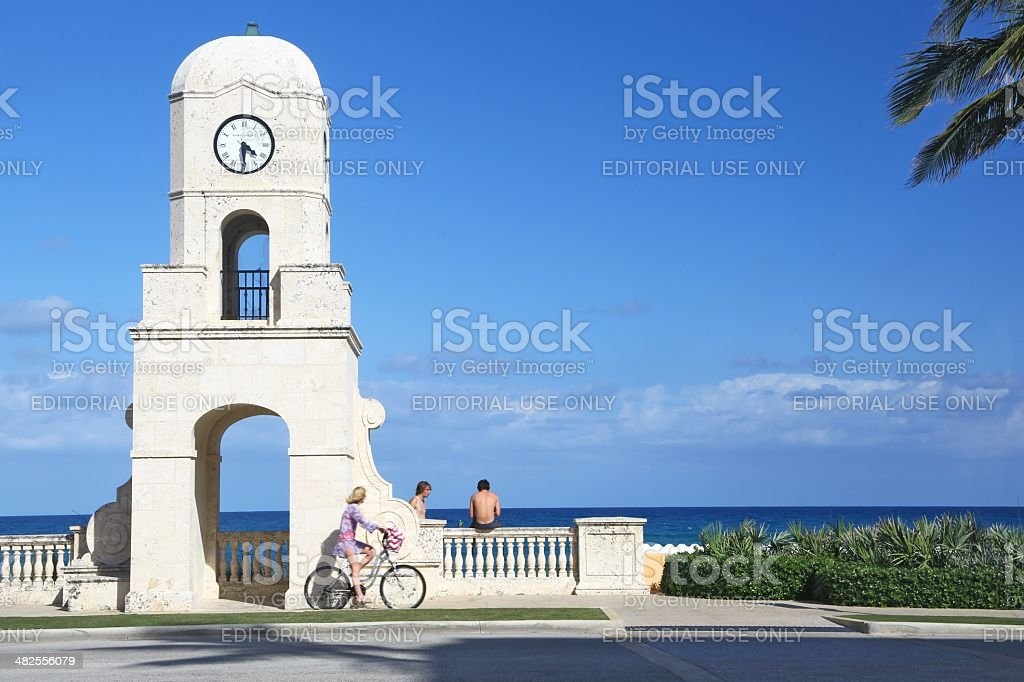 End of Worth Avenue in Palm Beach stock photo