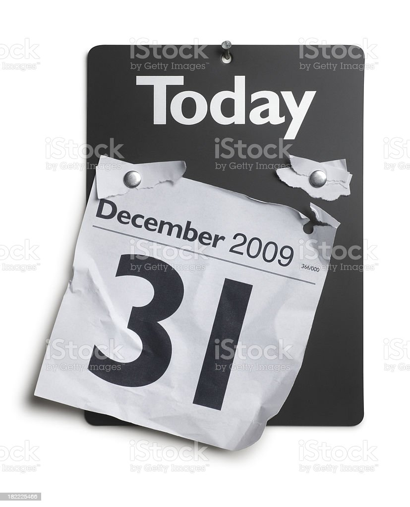 End of Year 2009 royalty-free stock photo
