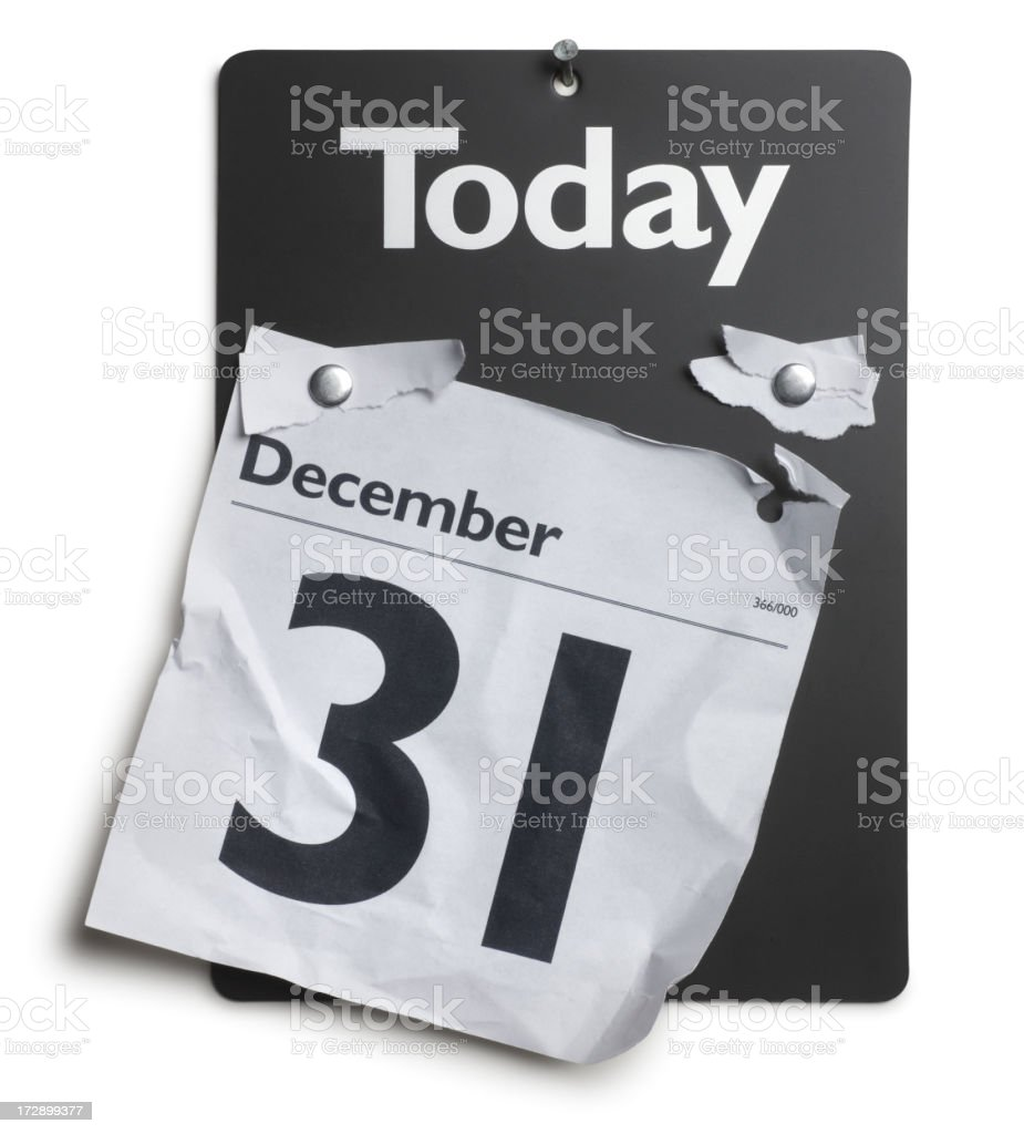 End of Year royalty-free stock photo