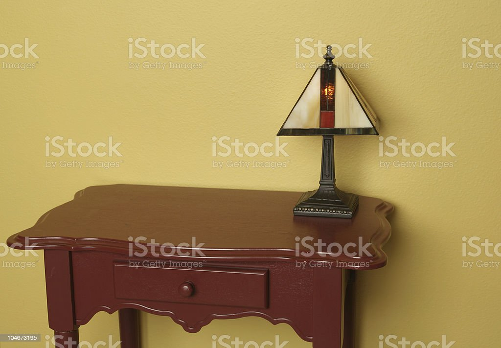 End table and a small lamp stock photo