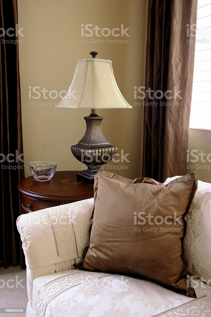 End Table with Lamp royalty-free stock photo