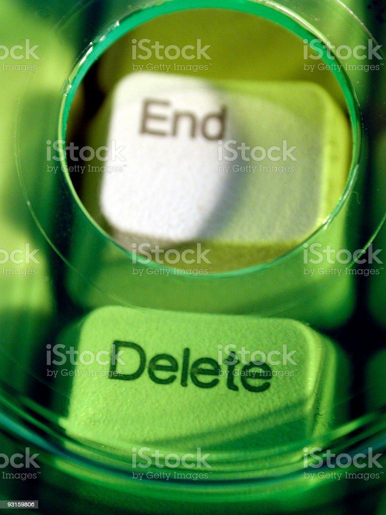 End-Delete royalty-free stock photo