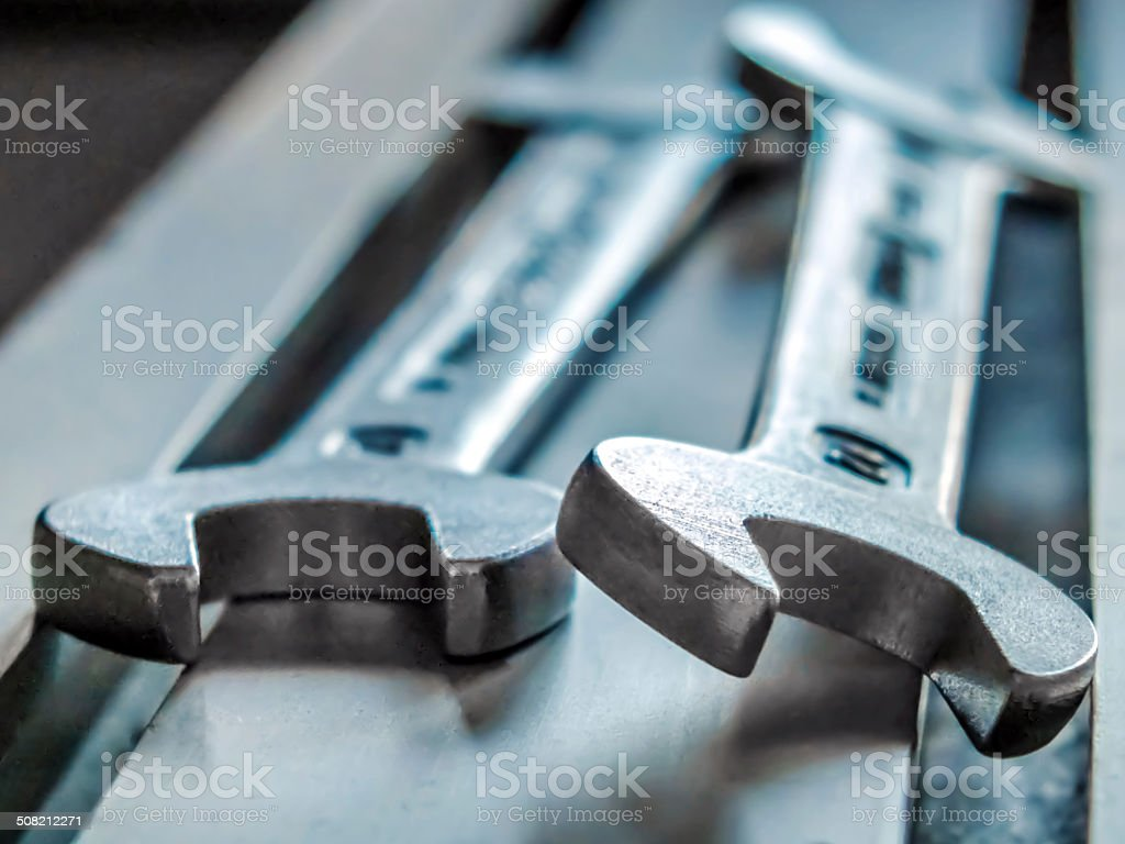 Ended Wrench stock photo