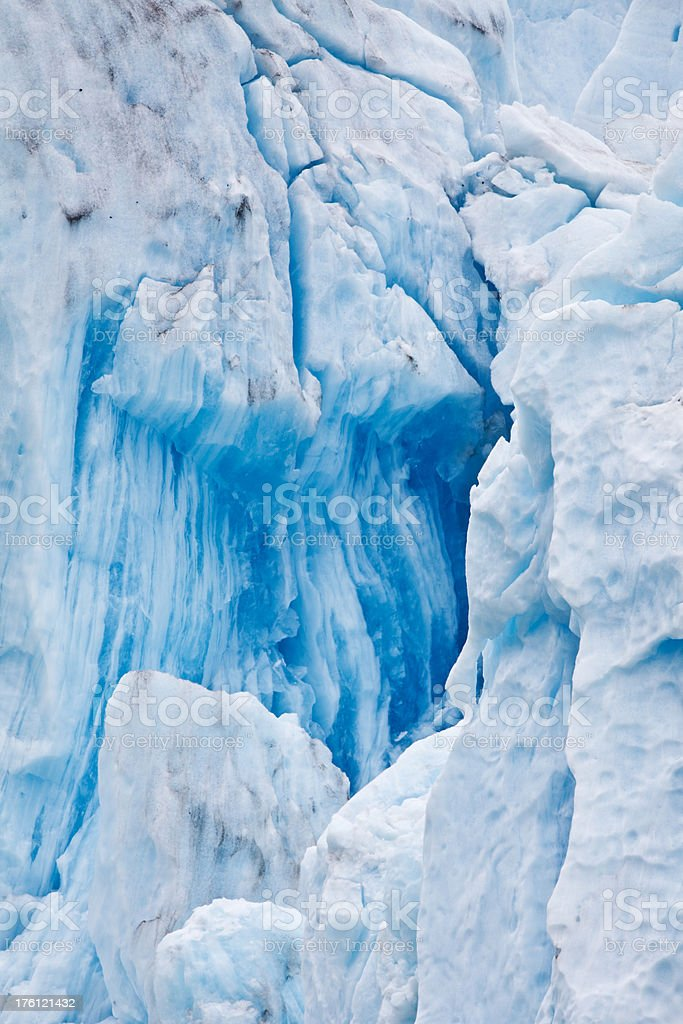 Endicott Arm of the Dawes Glacier stock photo