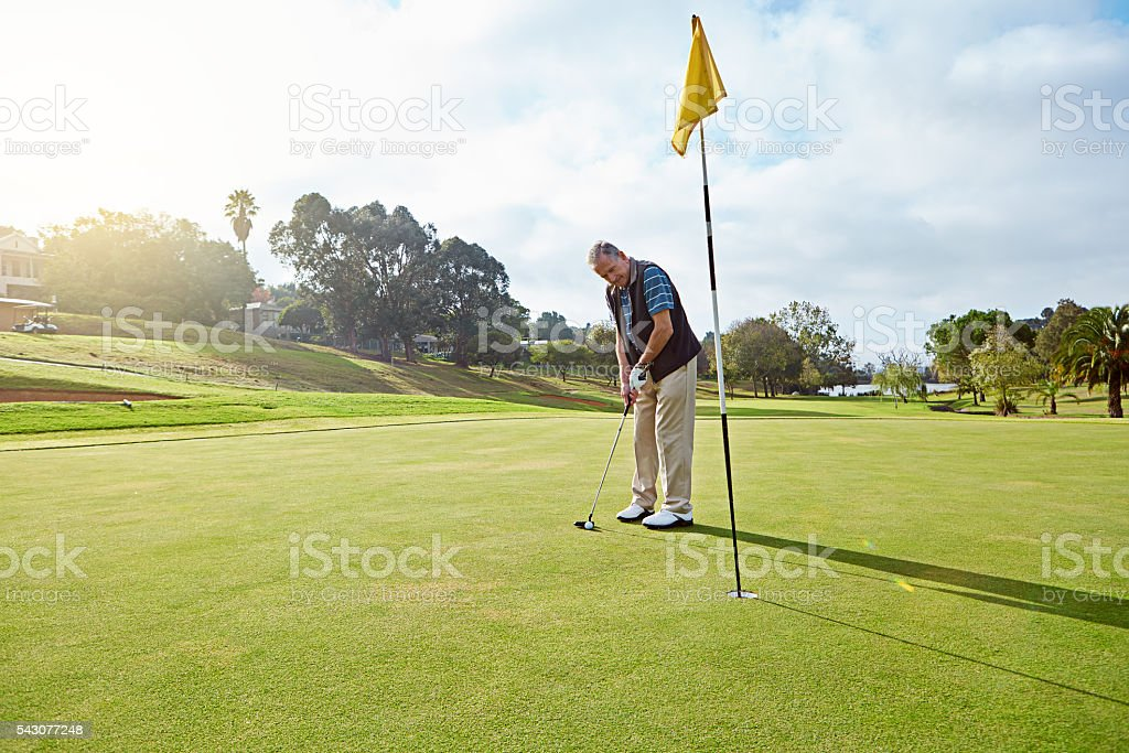 Ending off the front nine stock photo