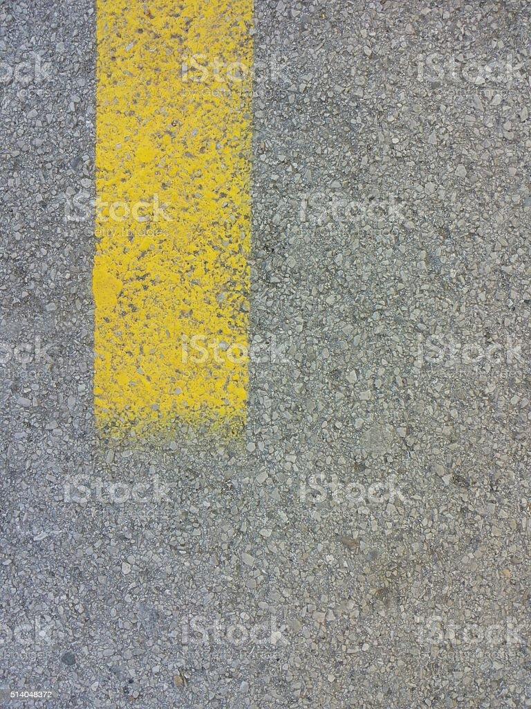 Ending yellow line stock photo