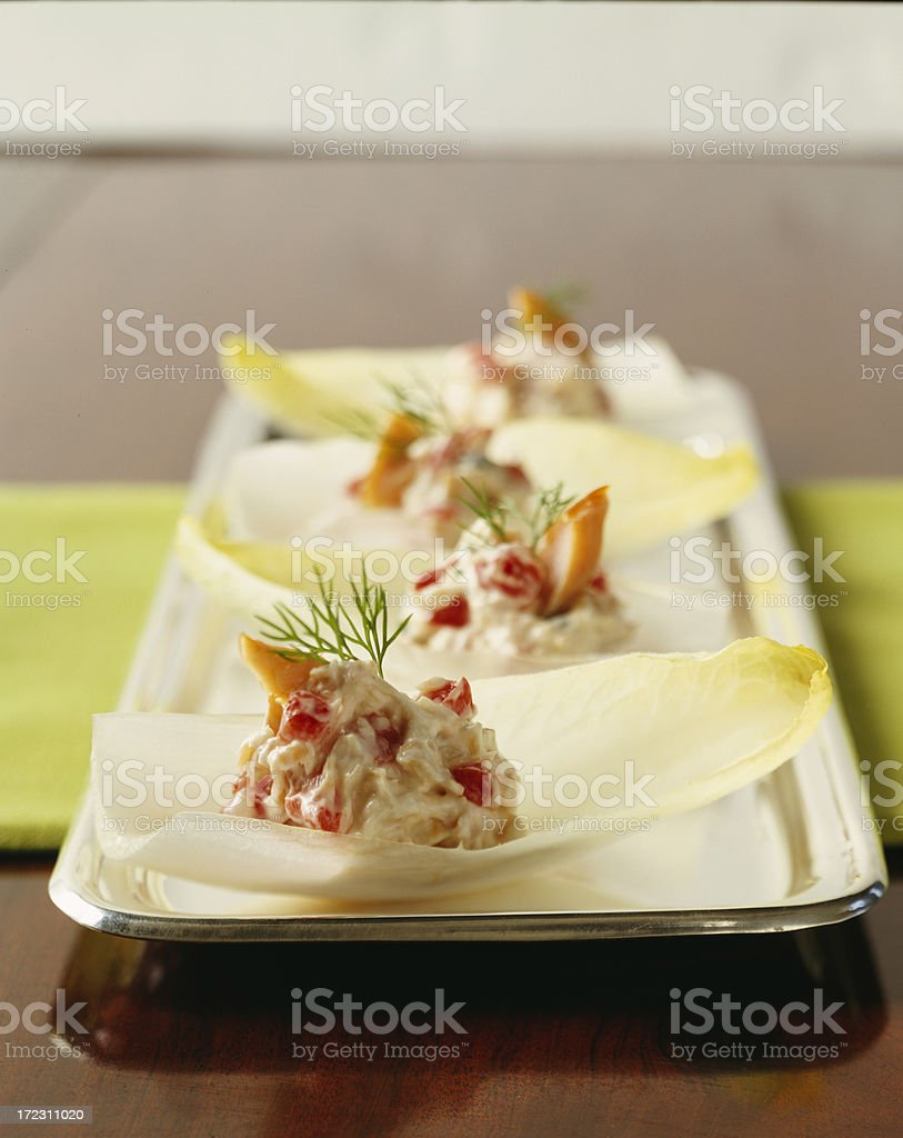 Endive Appetizer with Salmon royalty-free stock photo