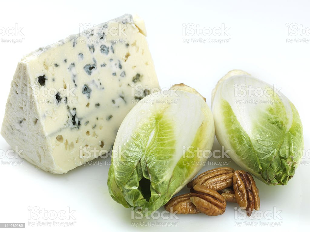 Endives, blue cheese and nuts royalty-free stock photo