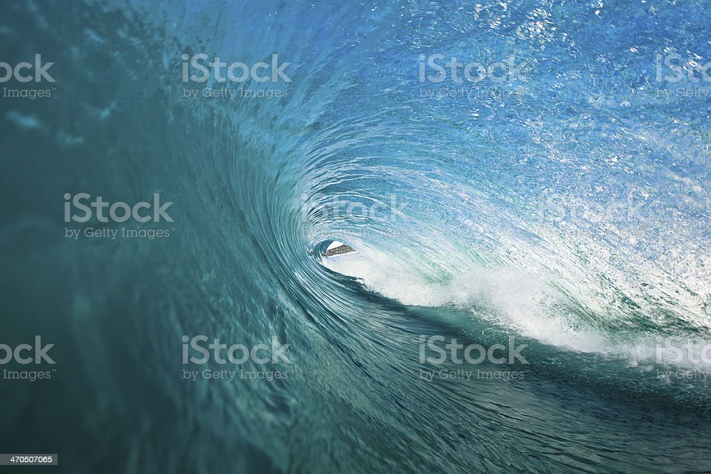 Endless barrelling wave stock photo
