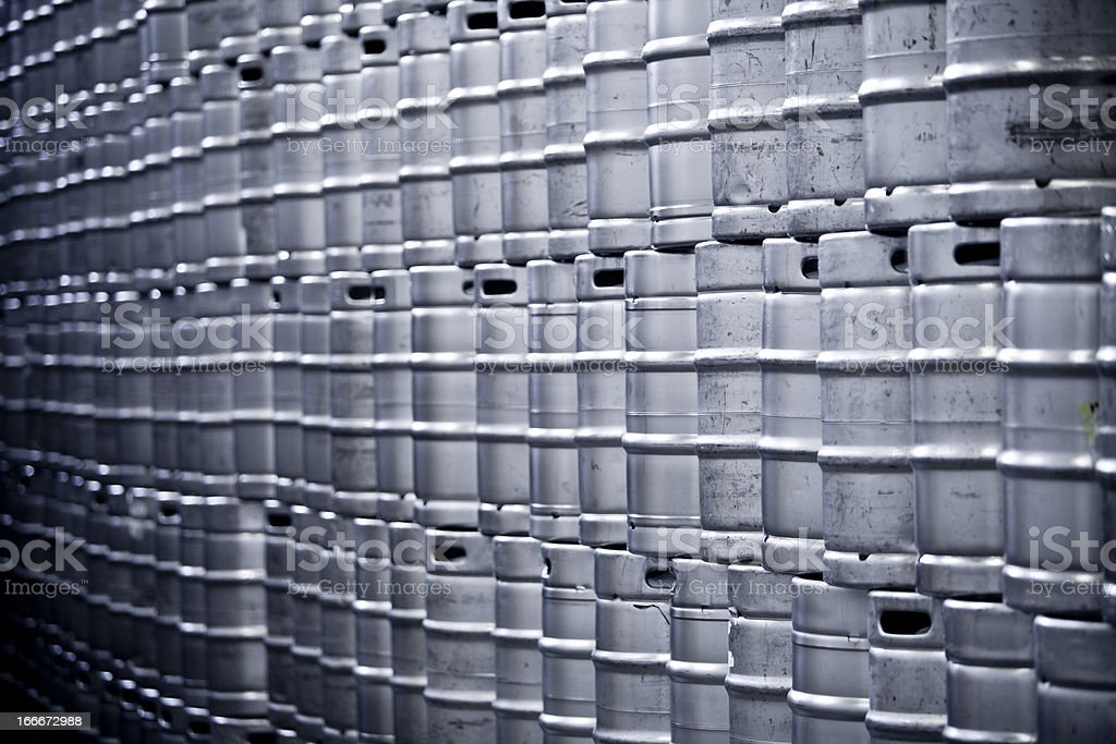 Endless Beer Kegs royalty-free stock photo