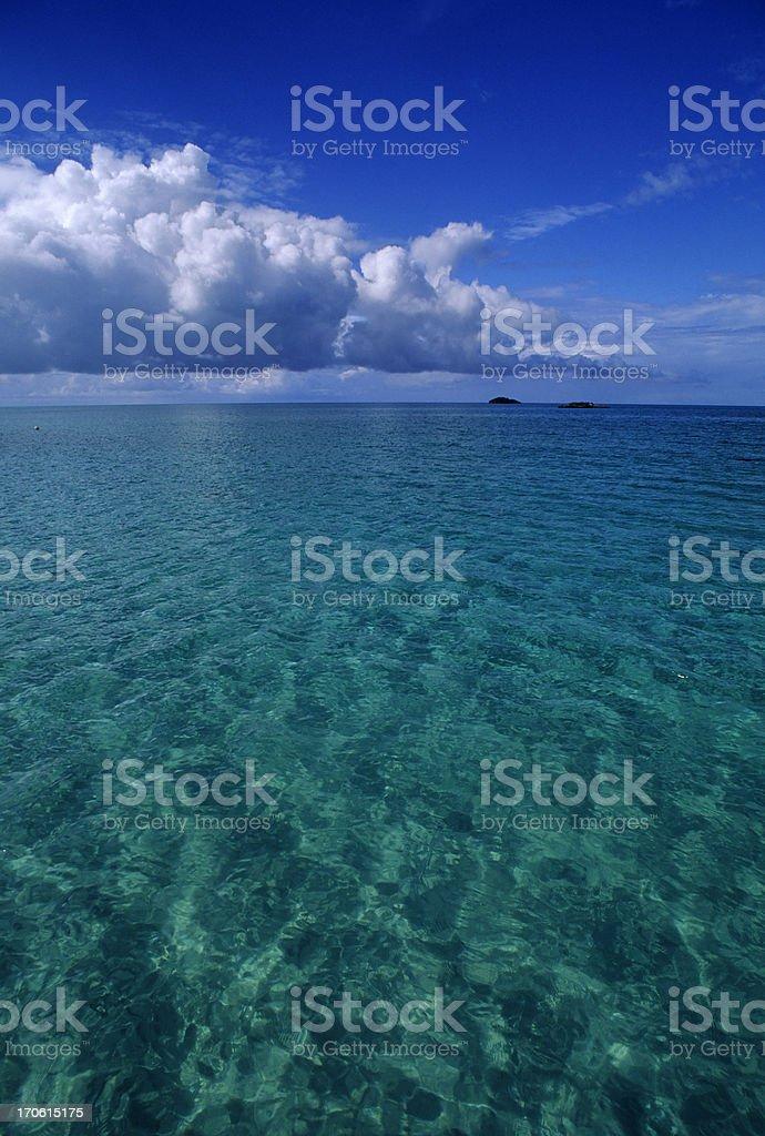 Endless Blue royalty-free stock photo