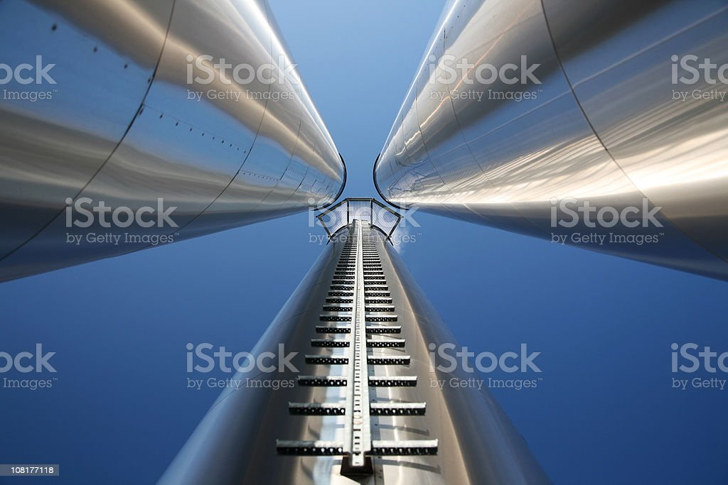 Endless chimneys stock photo