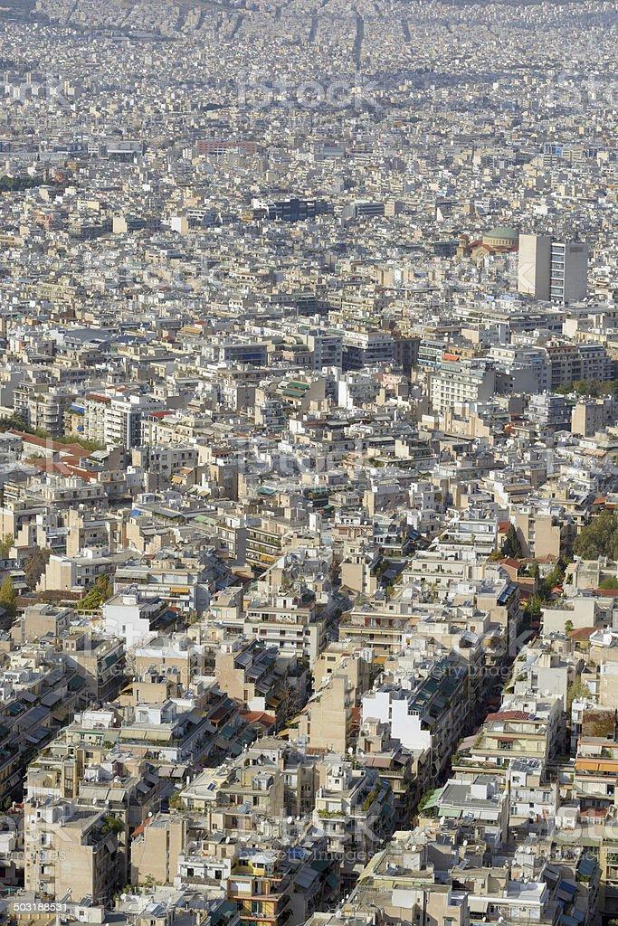 Endless City - Athens Greece royalty-free stock photo
