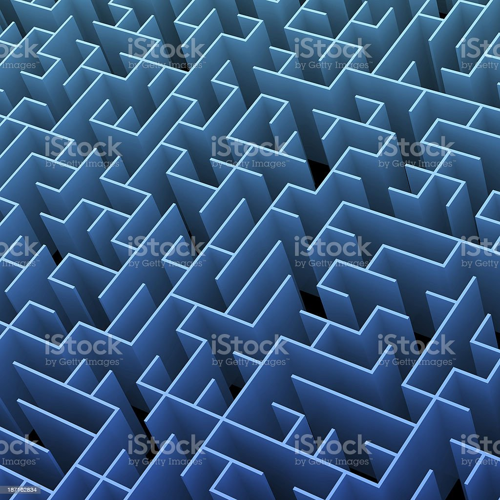 Endless Colored Maze royalty-free stock photo