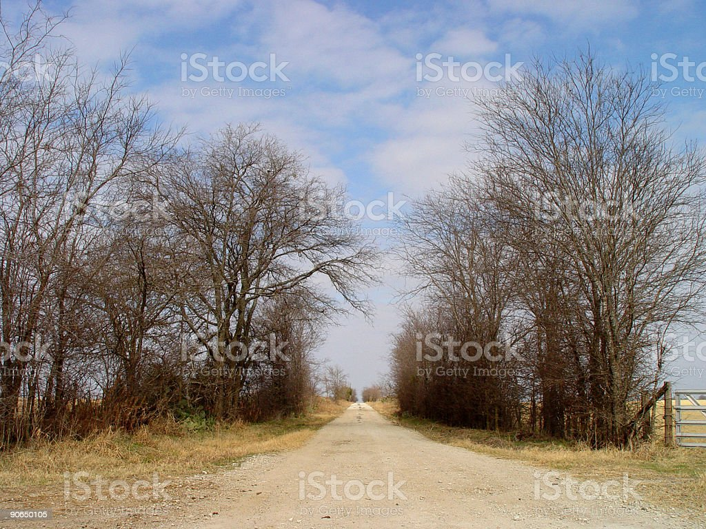 Endless country road stock photo
