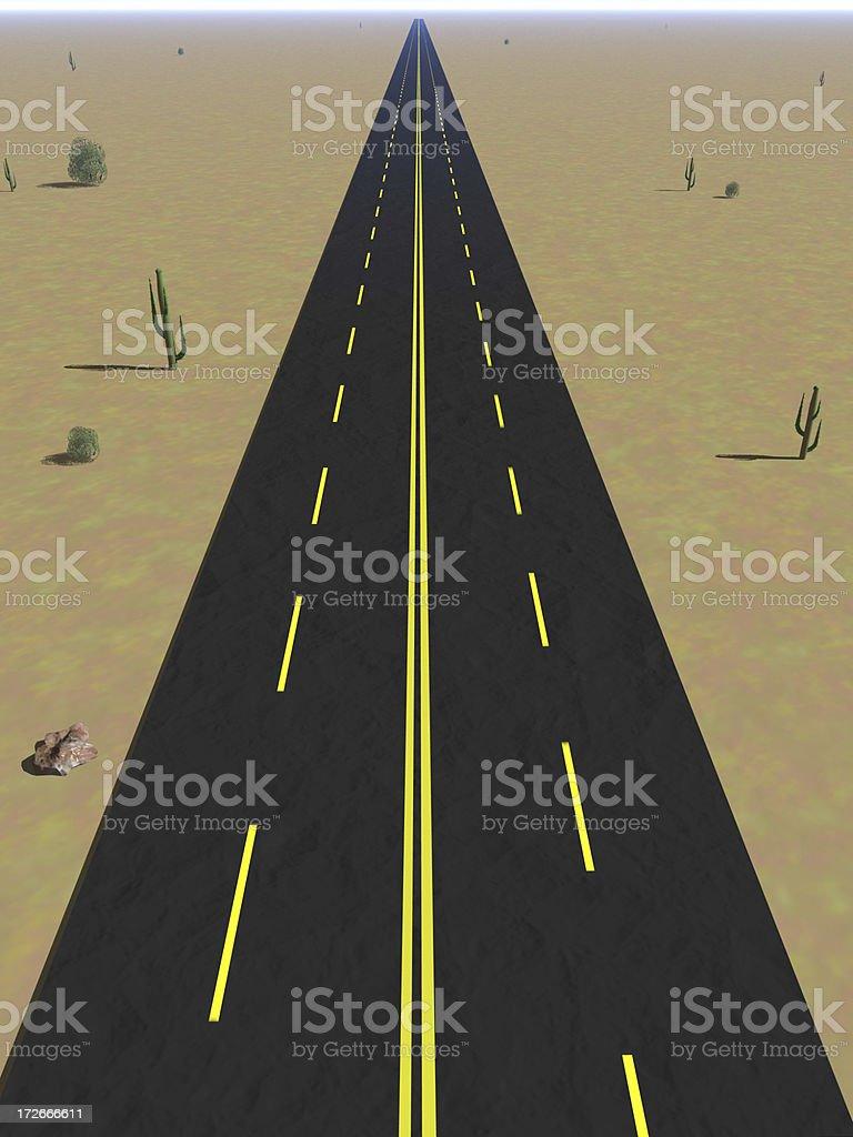 Endless Desert Road royalty-free stock photo