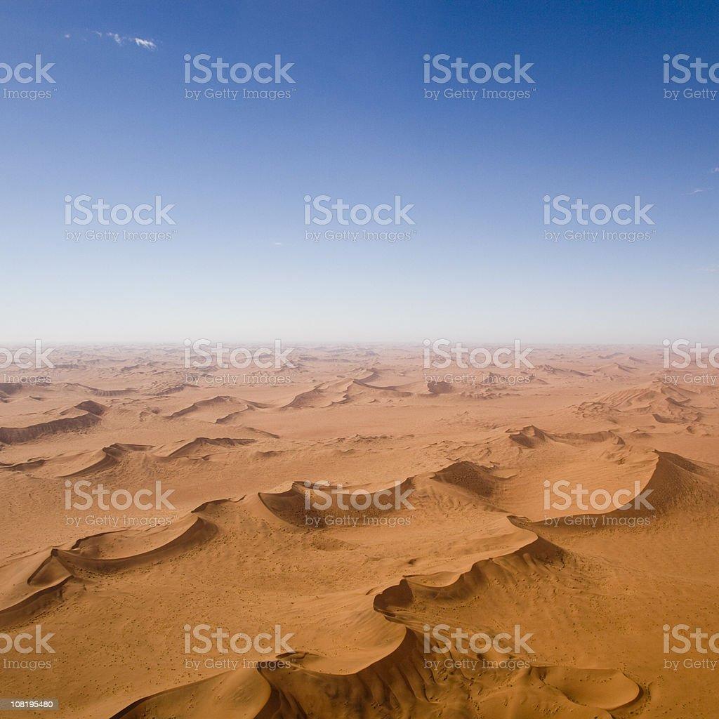 Endless Desert Sand Dunes stock photo