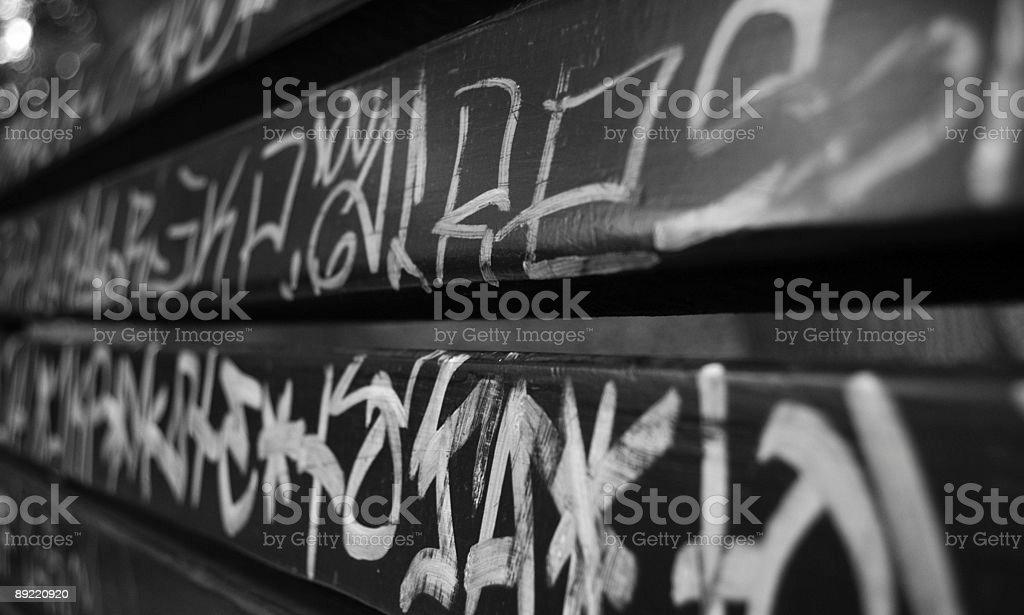 Endless Graffiti Tags stock photo