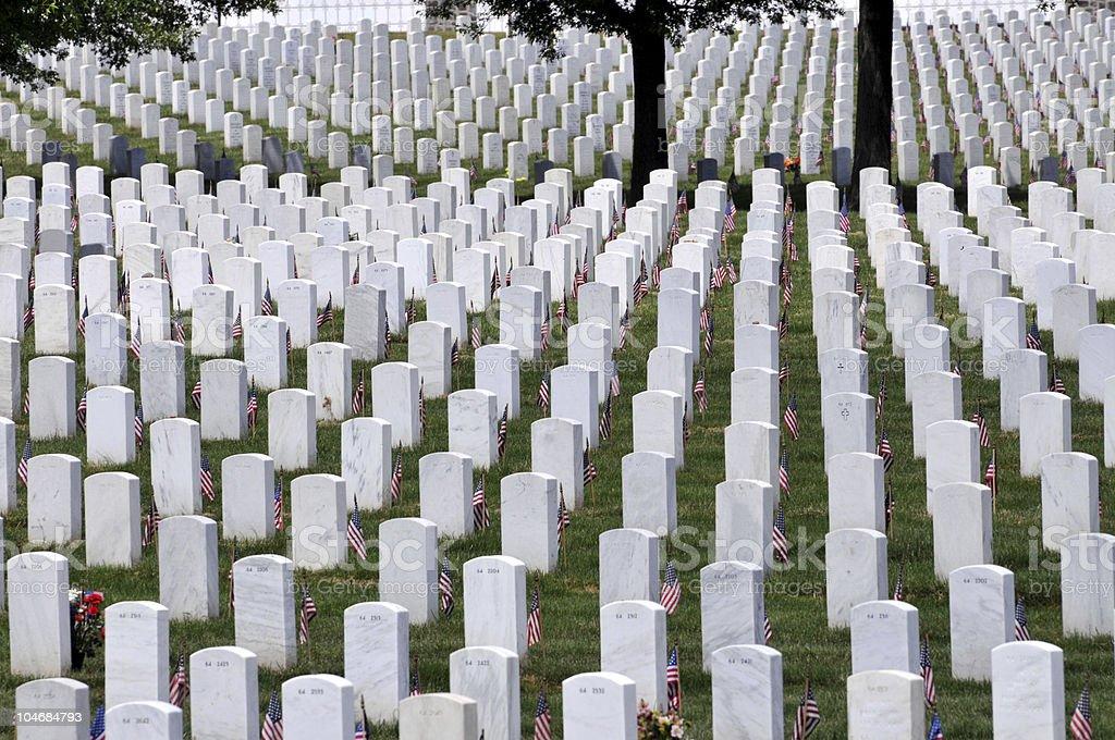Endless graveyard stock photo