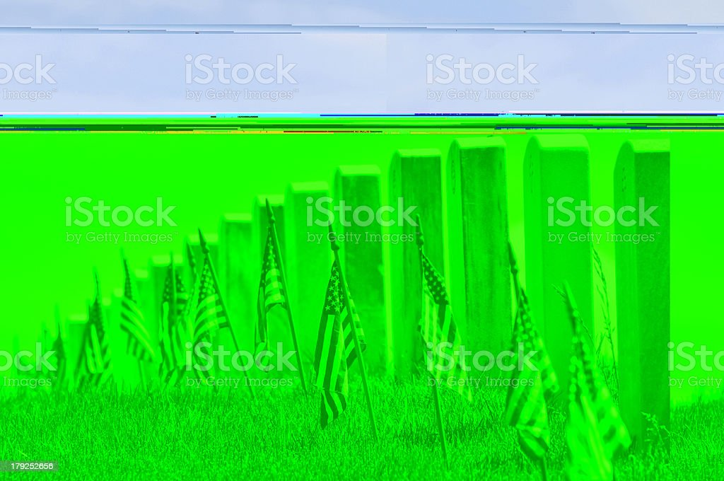 Endless graveyard stock photo