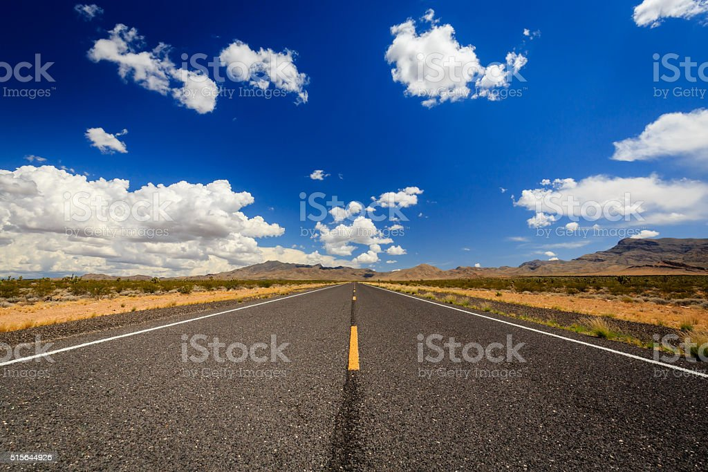 Endless Highway 91 near Littlefield stock photo