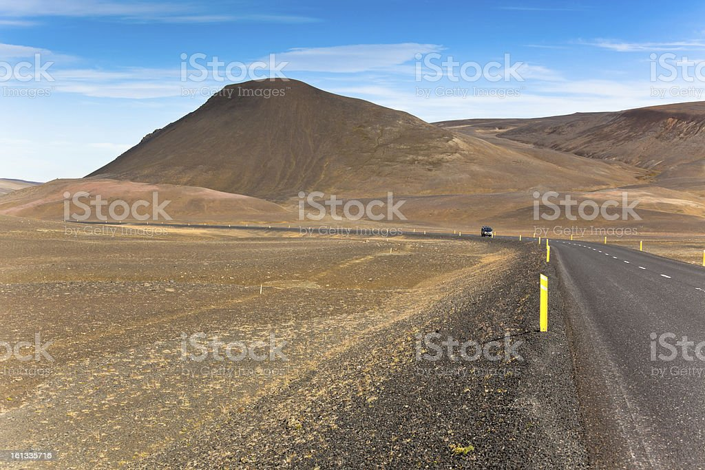 Endless Highway Iceland Highlands royalty-free stock photo