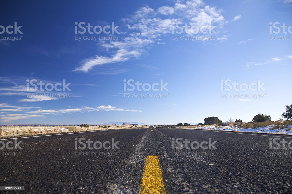 Endless highway royalty-free stock photo