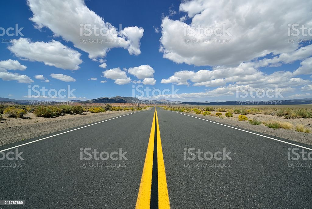 Endless Highway stock photo