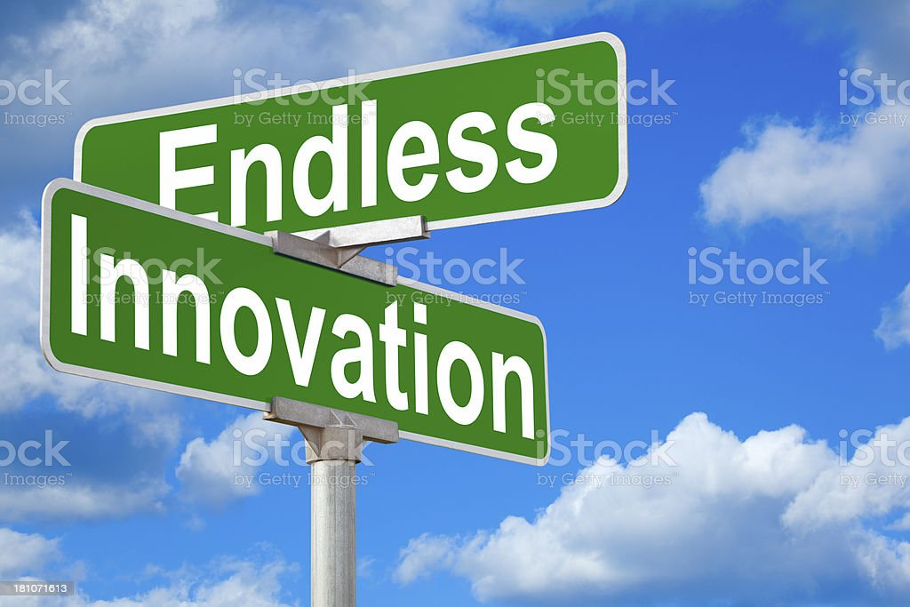 Endless Innovation Street Sign stock photo