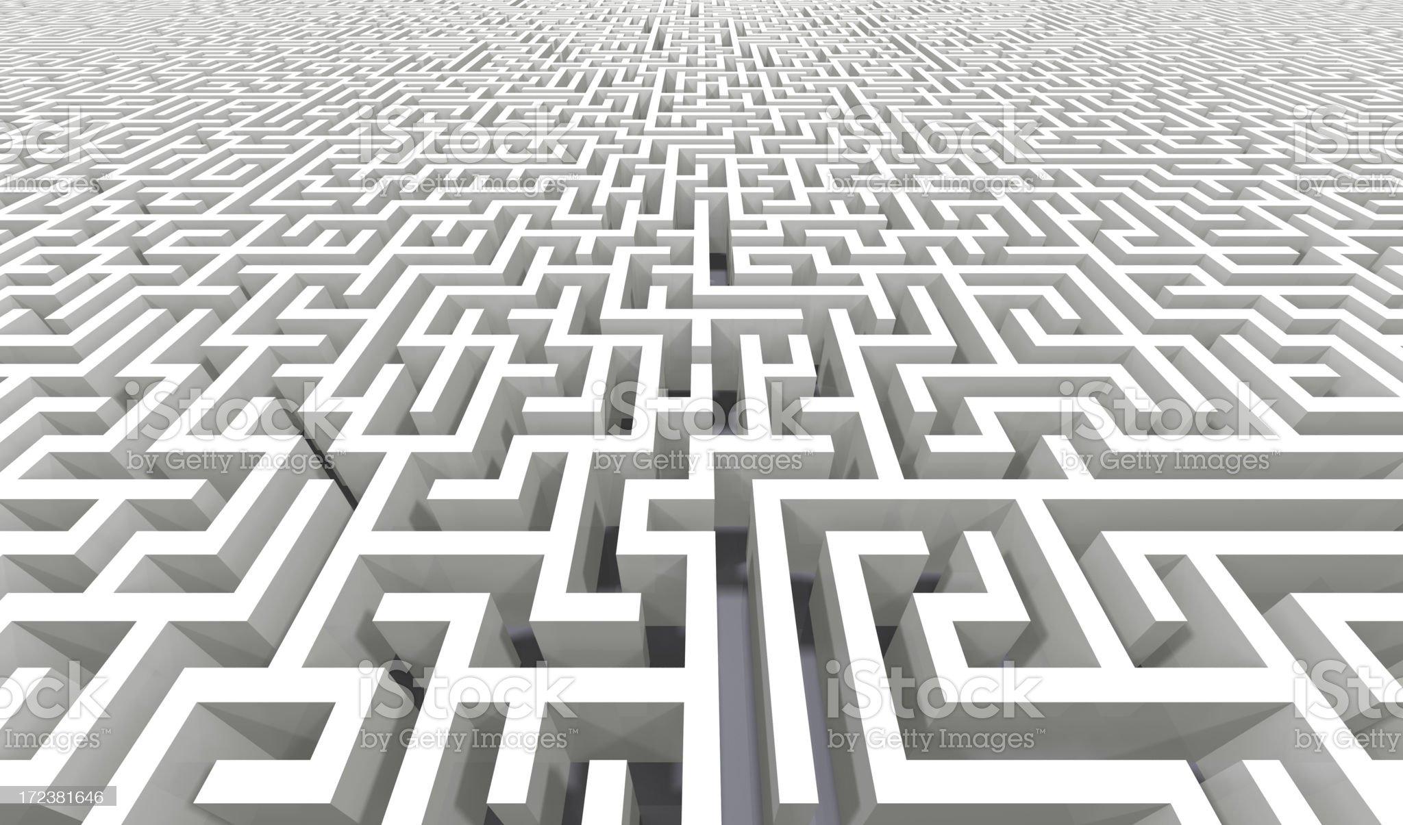 Endless Labyrinth royalty-free stock photo