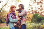 Endless love for brown dachshund in park
