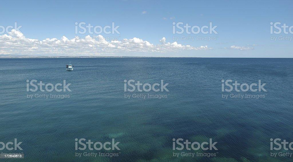 endless mediterranean landscape royalty-free stock photo