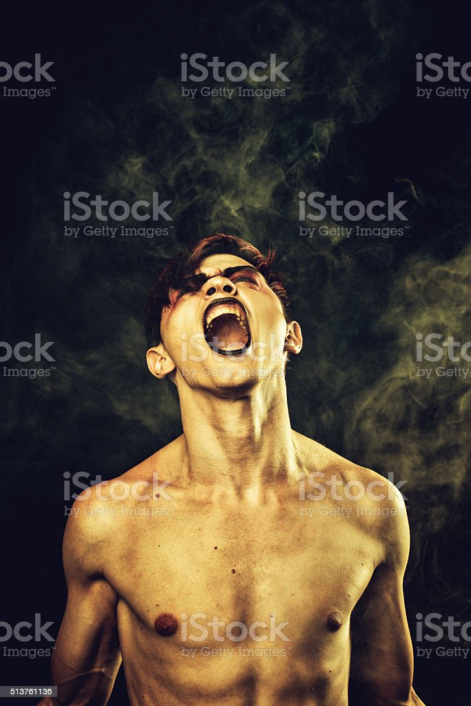 Endless misery stock photo