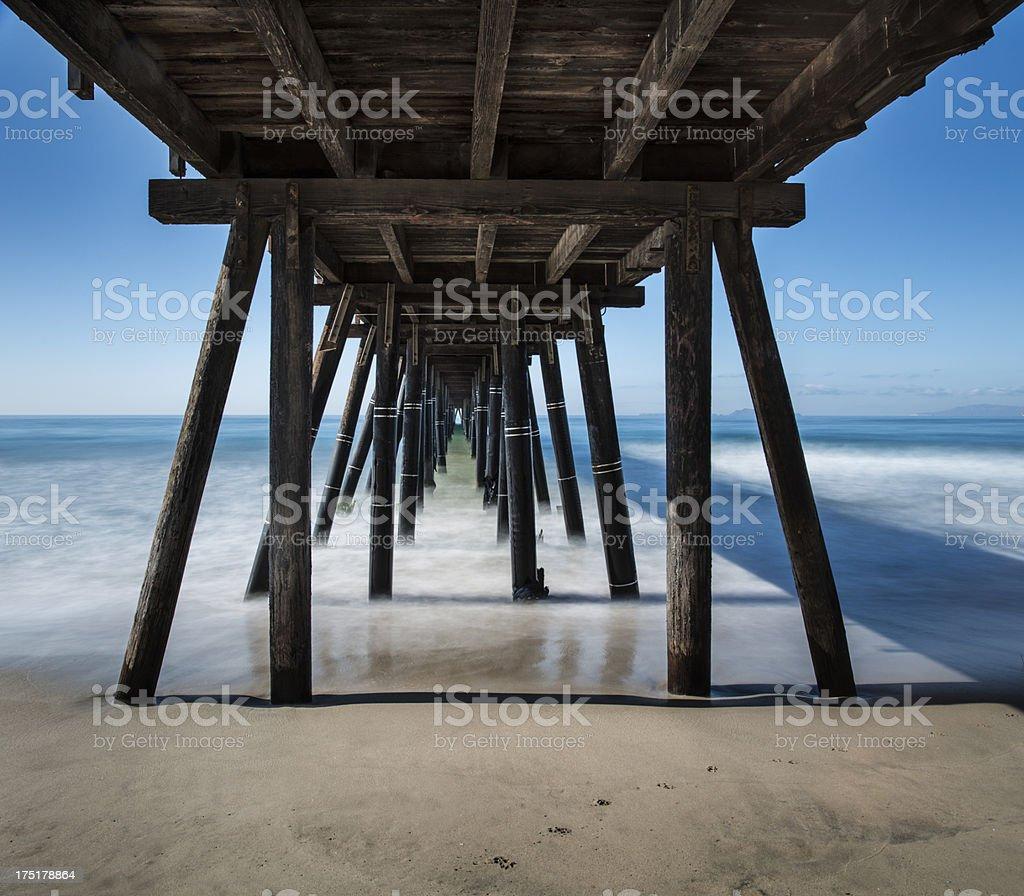 Endless Pier royalty-free stock photo
