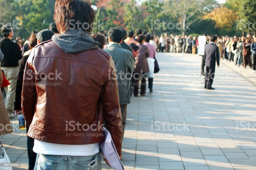 Endless Queue royalty-free stock photo