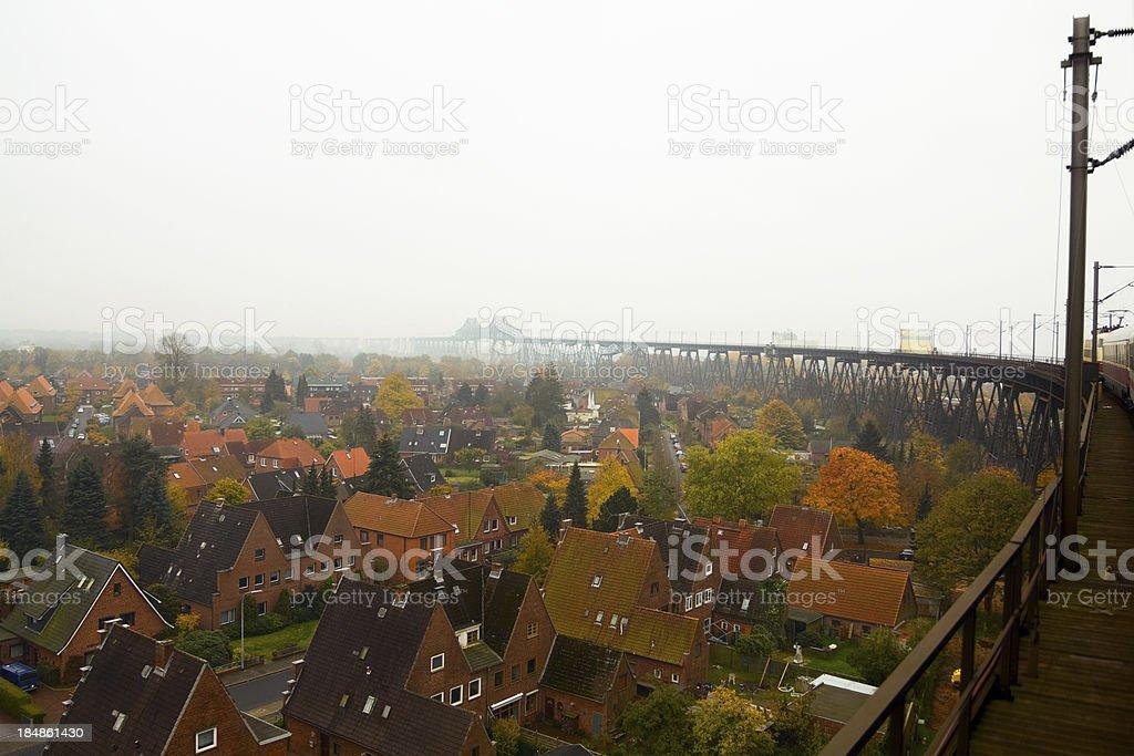 Endless railway bridge stock photo