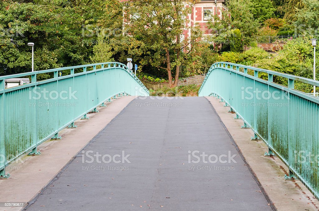 Endless road over a bridge stock photo