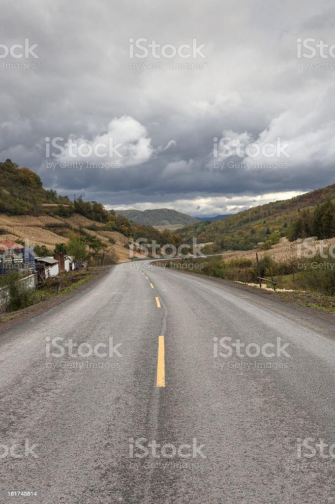 Endless road royalty-free stock photo