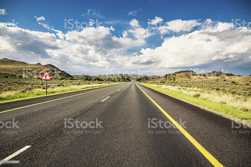 Endless Road Rural Landscape South Africa royalty-free stock photo