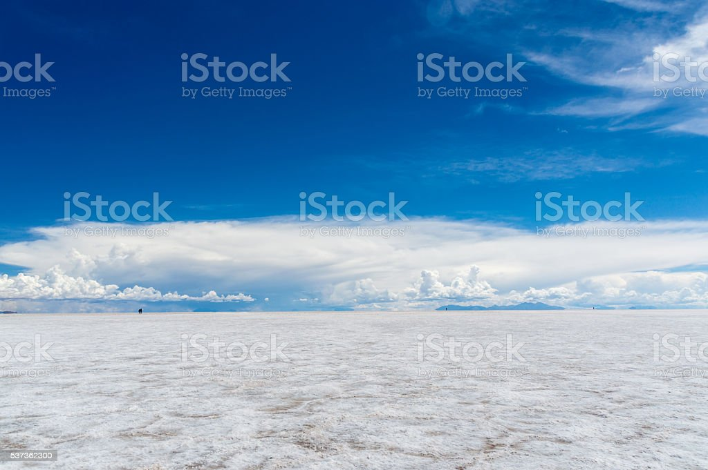 Endless Salt Flats stock photo