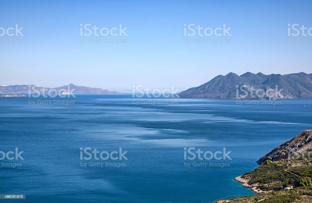 Endless sea and the Greek archipelago royalty-free stock photo