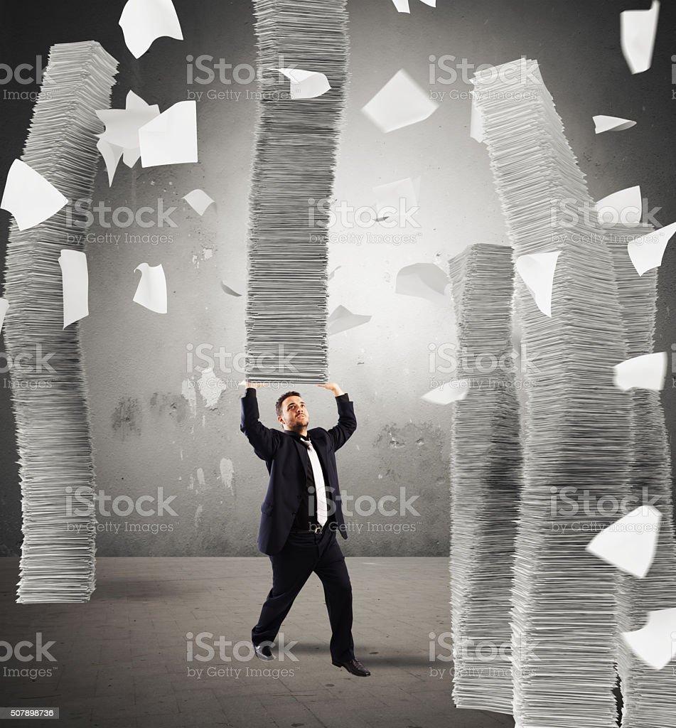 Endless stacks of sheets stock photo