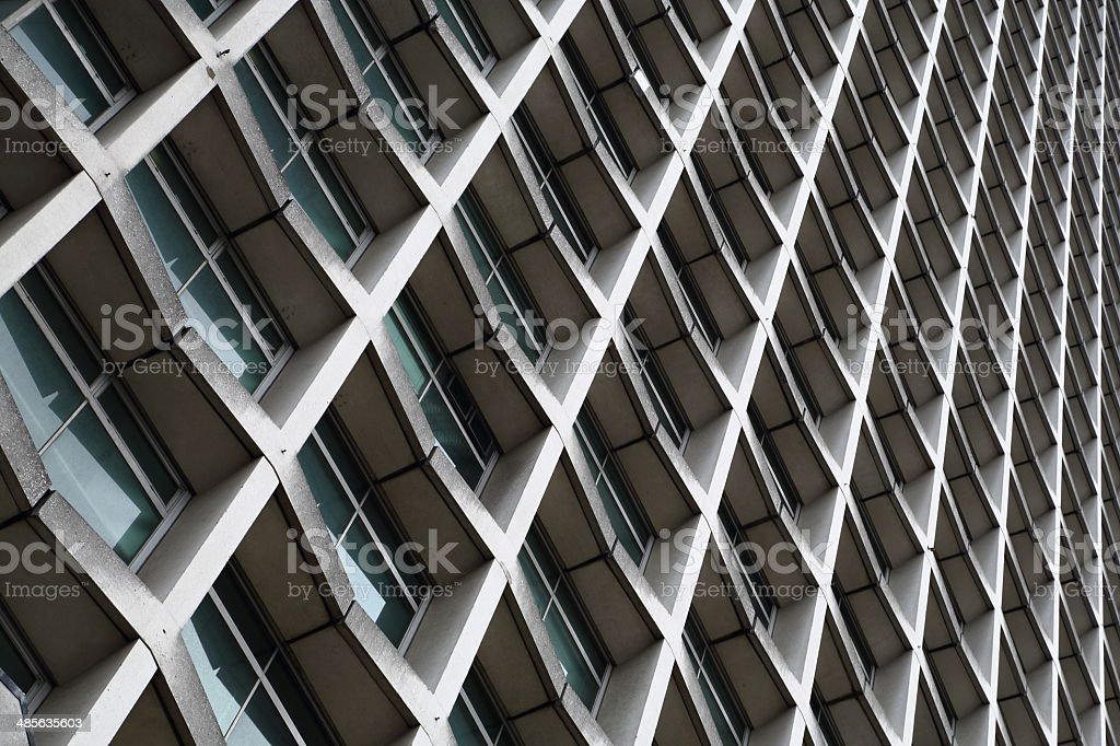 Endless tall Office building royalty-free stock photo