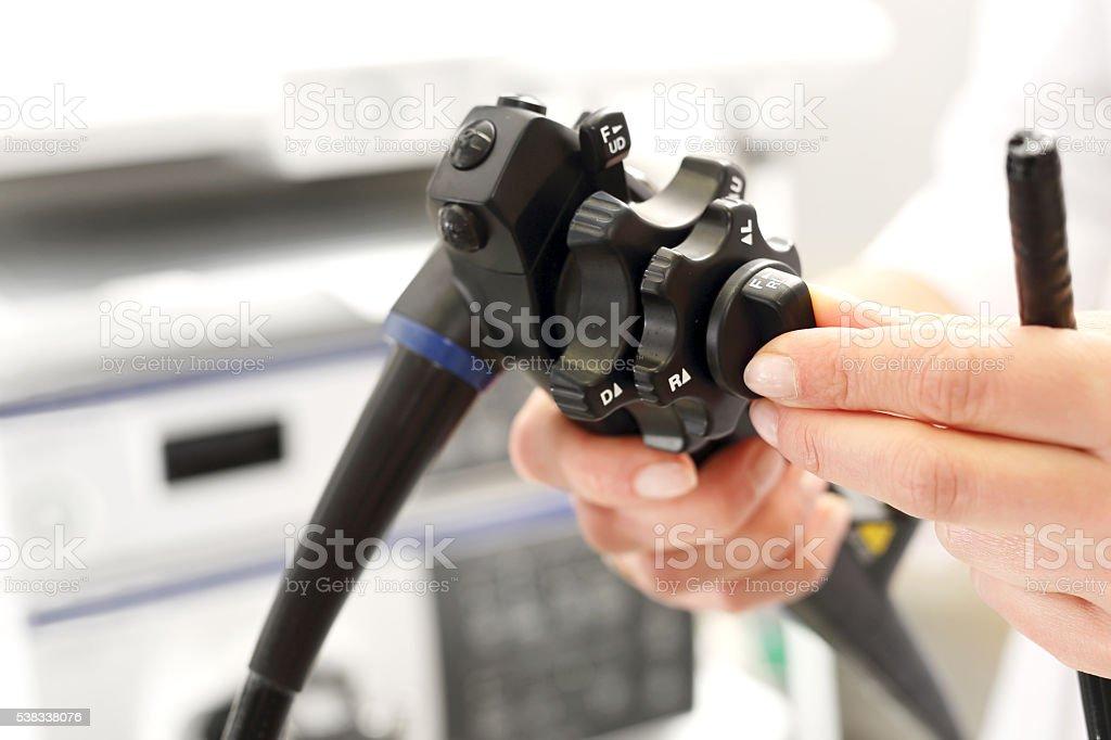 endoscope apparatus for testing gastrointestinal stock photo