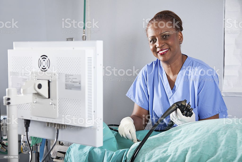 Endoscopy stock photo