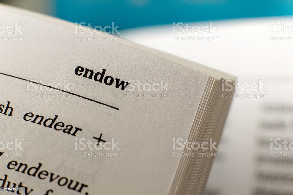 Endow stock photo