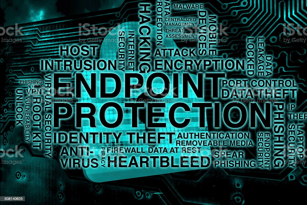 Endpoint Protection Padlock stock photo