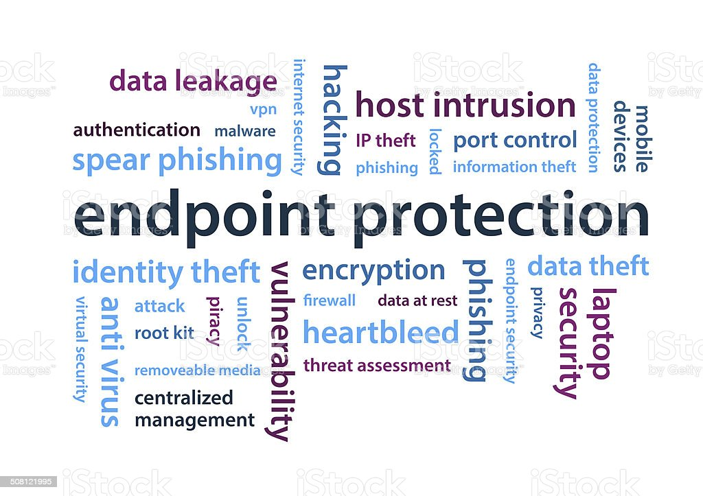 Endpoint protection stock photo