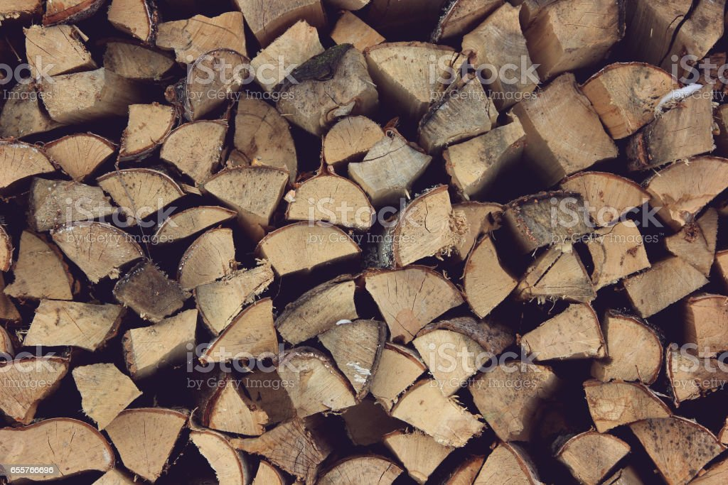 ends of logs,  wooden background. stock photo